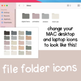 Muted Desktop File Folders for MAC / Apple | Minimalist Co