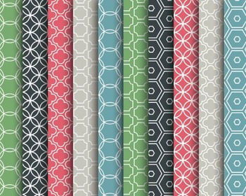 Muted Modern Papers, Digital Papers, Muted Modern Papers Set #145