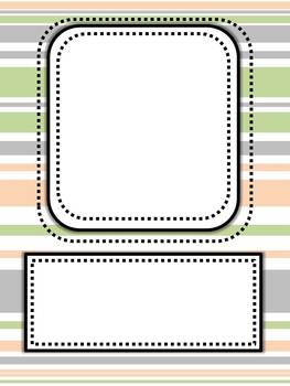 Muted Stripe Frame Pack (Single and Double Frames)