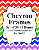 Muticolored Verticle Chevron Frames