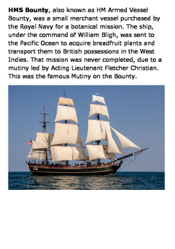 Mutiny on the Bounty Word Search