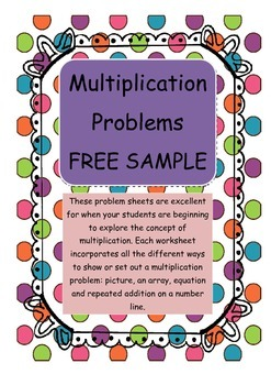 Mutiplication Problems Worksheet - SAMPLE