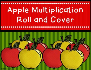 Mutiplication Roll and Cover {Apple Theme}