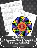 Mutli-Step Trigonometry Triangles Coloring Activity