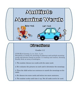 Mutliple Meaning Words