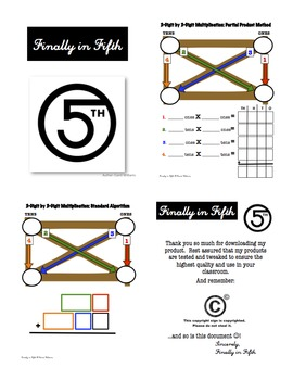 Mutliplication Graphic Organizer-Partial Product and Standard Algorithm