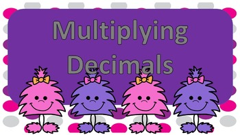 Mutliplying Decimals Task Cards