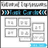 Mutliplying & Dividing Rational Expressions Task Cards