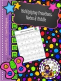 Multiplying Fractions Notes and Fun Riddle Activity