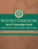 Mutliplying and Dividing Fractions Scavenger Hunts: Set of 3