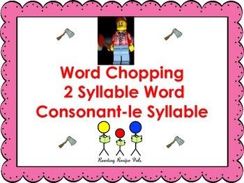 Multisyllabic Words - consonant le syllables