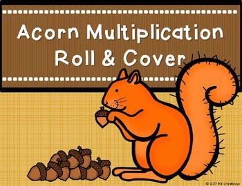 Mutiplication Roll and Cover {Autumn Theme)