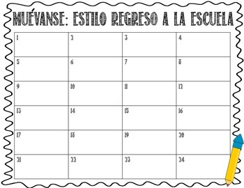 ¡Muévanse! (Back-to-School Themed Scoot Game in Spanish)