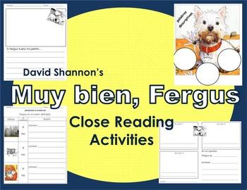 Muy Bien, Fergus Close Reading Activities (SPANISH)