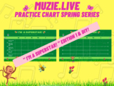 """""""I'm A Super Star!"""" Music Student Practice Charts!"""