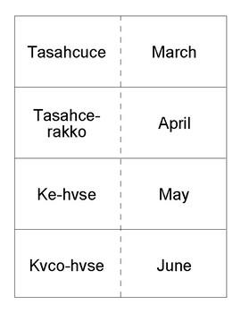 Mvskoke Language Flashcards set 10