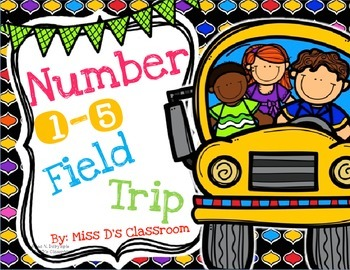 Numbers 1 - 5 Field Trip Bundle!