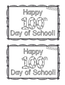 My 100th Day Book