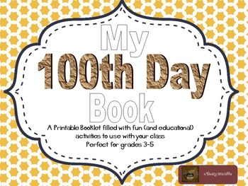 My 100th Day Book-Printable Booklet of Activities