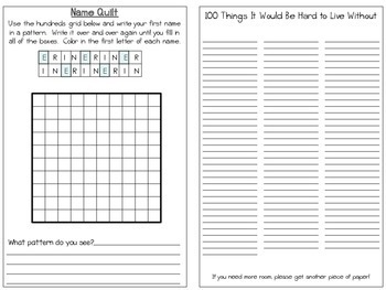 My 100th Day Book-a printable booklet (Math, Science, Literacy)