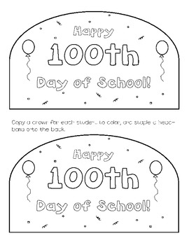 My 100th Day of School Activity Pack