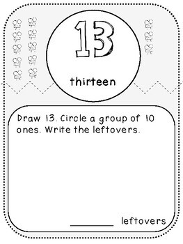My 11-19 Place Value Book (Kindergarten-K.NBT.1)