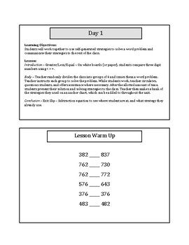 My 1st 5 Lessons: Grade 3 Subtraction