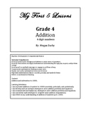 My 1st 5 Lessons: Grade 4 Addition