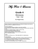 My 1st 5 Lessons: Grade 4 Division