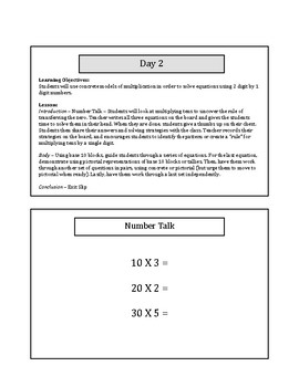 My 1st 5 Lessons: Grade 4 Multiplication