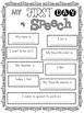 My 1st Day of Speech Poster