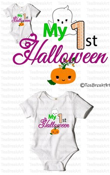 My 1st Halooween Text Art Monogram ClipArt Digital Design Cutting Files 710C