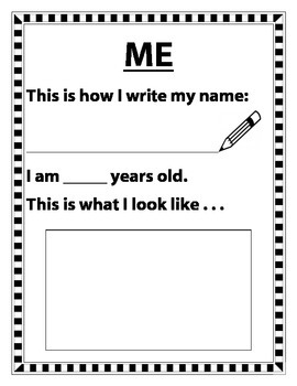 My 1st Week of First Grade Booklet