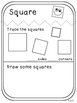 My 2-D Shape Book (Kindergarten Activity, K.G.5)
