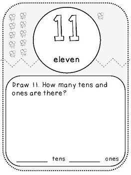 My 2-Digit Numbers Book (First Grade, 1.NBT.2)