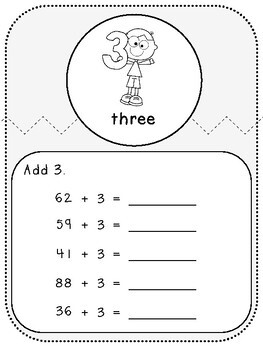 My 2-Digit and 1-Digit Book-Student Pages (First Grade, 1.NBT.4)