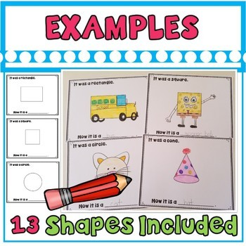 My Shape Creation Book- Students Turn Ordinary Shapes Into Shape Creations
