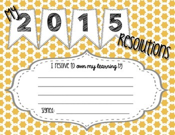 My 2015 Resolutions - Owning My Learning