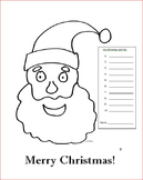 My 2016 Christmas coloring page