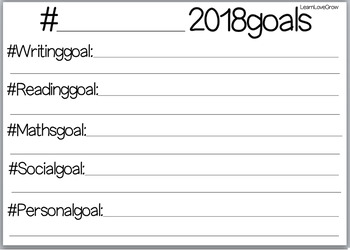 My 2018 Goals FREEBIE #ausbts18