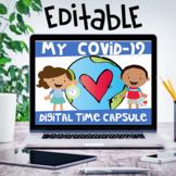 My COVID-19 Digital Time Capsule Print & Editable Digital