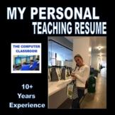 My 2021 PROFESSIONAL CV/RESUME!
