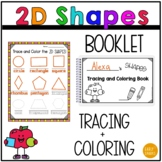 My 2D Shape Tracing and Coloring Booklet - Shape and Fine Motor Skills