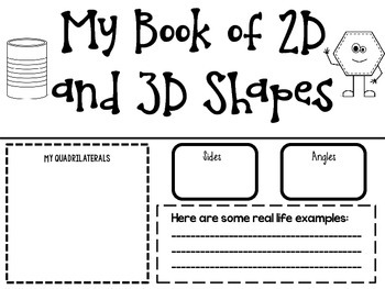 My 2D and 3D Book of Shapes