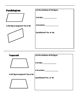 My 2D and 3D Geometric Figures Booklet