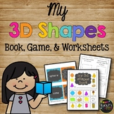 3D Shapes Book Solid Shapes Activity Kindergarten First and Second Grade