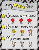 My 3 STAR Paper Coloring Rules Printable