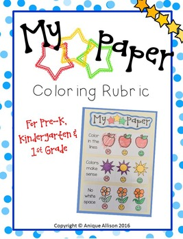 My 3 Star Coloring Rubric