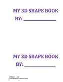 My 3D Shape Book  Cone Cylinder Cube Sphere Prisms