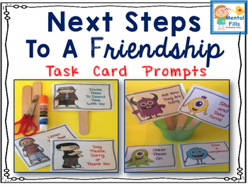 Social Skills Scripted Task Cards for The Next Steps To A Friendship